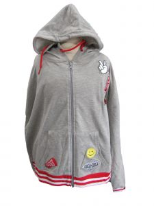 Coca Cola Womens Gray Flavor Drink Emoticon Zip Up Hoodie XL-2XL