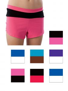 Pizzazz Girls Multi Color Block Low Rise Shorts Youth 2-16