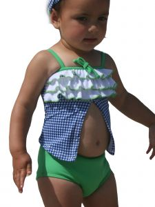 Azul Little Girls Navy Reserve Frills 2 Pc Open Tankini Swimsuit 2