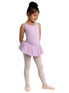 Danshuz Big Girls Lavender Glitter Back Bow Tank Ruffle Dance Dress 6X-10