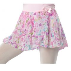 Danshuz Big Girls Pastel Watercolor Flower Print Over-Lapping Circle Skirt 6X-14