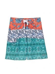 Azul Little Boys Red Blue Green Printed Swim Shorts 4-6
