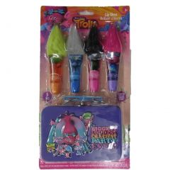 DreamWorks Girls Multi Color Trolls Lip Sticks Tin Container Set