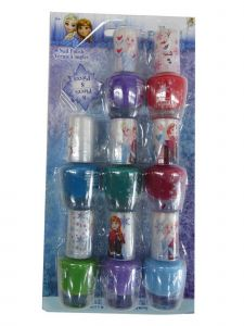 Disney Little Girls Multi Color Assorted Frozen Peal-able Nail Polish Set