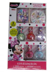 Disney Little Girls Multi Color Assorted Minnie Mouse Peal-able Nail Polish Set
