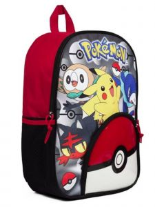 Pokemon Unisex Black Red 12X10 Inches 3D Backpack