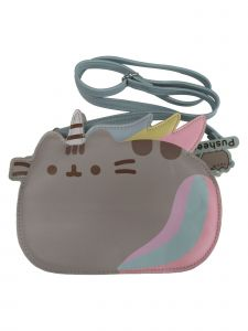 Pusheen Women Gray Unicorn Cross Body Adjustable Strap Bag Purse
