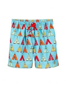 Azul Big Boys Multi Color Little Teepee Drawstring Swim Shorts 8-14