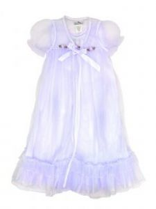 Laura Dare Big Girls Lilac Peignoir Nightgown Robe Scrunchie Set 7-14