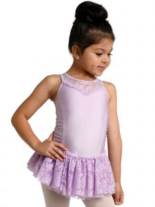 DanzNmotion Big Girls Lavender Tank Style Lace Keyhole Back Dress 2-10