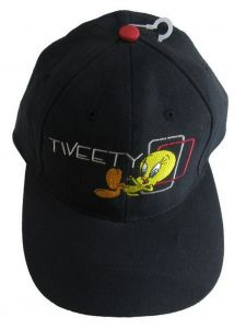 Looney Tunes Little Boys Black Tweedy Baseball Cap