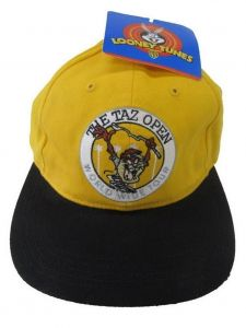 Looney Tunes Little Boys Yellow The Taz Open World Wide Tour Cap