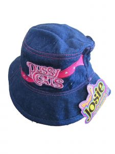 Josie And The Pussycats Girls Pink Cartoon Inspired Applique Bucket Hat 4-7