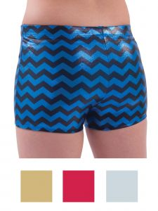 Pizzazz Girls Multi Color Chevron Metallic Boys Cut Briefs Youth 2-16