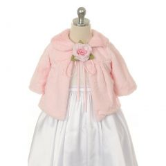 Kids Dream Pink Faux Special Occasion Half Coat Girls 2T