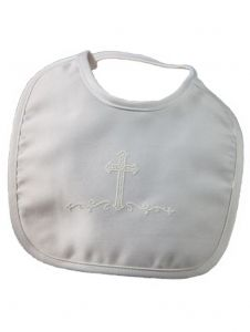 Little Things Mean A Lot White Matte Satin Screened Cross Bib S-L
