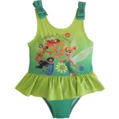 Disney Little Girls Green Tinker Bell Inspired Print One Piece Swimsuit 2-4T