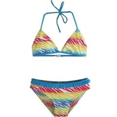2B Real Little Girls Blue Yellow Red Ruffles Two Piece Bikini Swimsuit 4-6X