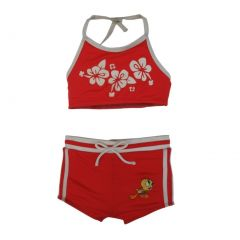 Wb Little Girls Red Looney Tunes 2Pc Swimsuit Set UPF 50+ 2-4T