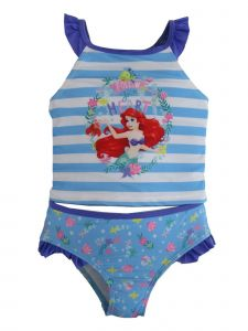 Disney Little Girls White Little Mermaid 2Pc Swimsuit 2-4T