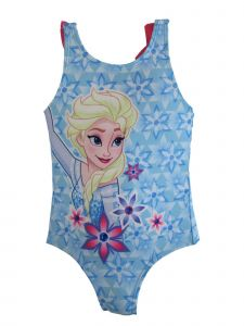 Disney Little Girls Blue Elsa Swimsuit 2-4T