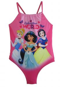 Disney Little Girls Pink Princess Swimsuit 2-4T
