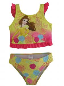 Disney Little Girls Yellow Princess Belle Swimsuit 2-4T