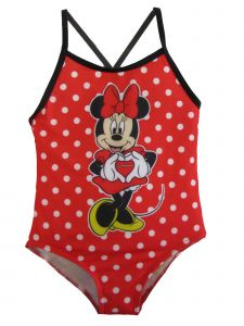 Disney Little Girls Red Minnie Mouse Swimsuit 4-6X