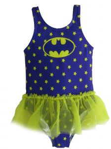 DC Comics Little Girls Purple Batgirl Tutu Swimsuit 12-24M
