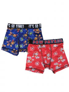 Nickelodeon Little Boys Blue Red Paw Patrol 2-Pack Boxer Briefs 5-7