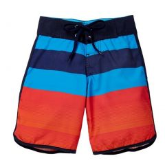Azul Boys Red Blue Stripe Back To Basic Swimwear Board Shorts 2-10