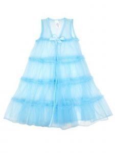Laura Dare Little Girls Ice Blue Princess Peignoir Nightgown Robe Set 2T-6X