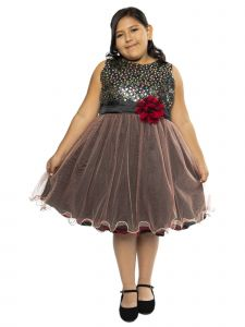 Kids Dream Big Girls Red Sequin Tulle Plus Size Christmas  Dress 16.5-20.5