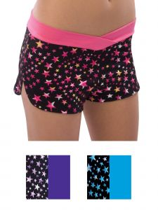 Pizzazz Girls Multi Color Superstar Crossover Shorts Youth 2-16