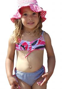 Azul Big Girls Red Modern Mix Bandeau Bikini 2 Pc Swimsuit 7