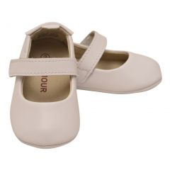 L`Amour Baby Girls White Leather Crib Soft Sole Mary Jane 0 Baby-5 Toddler