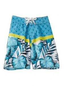 Azul Little Boys Turquoise Endless Summer Elastic Waist Swimwear Shorts 2-6