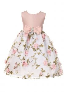 Crayon Kids Girls Multi Color Floral Junior Bridesmaid Flower Girl Dress 2T-14