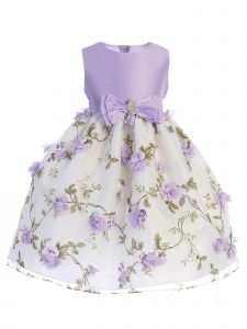 Crayon Kids Big Girls Lilac Floral Print Easter Flower Girl Dress 7-10
