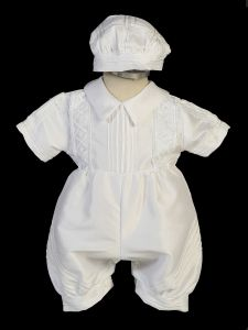 Baby Boys White Sotana Priest's Cassock Ropone Style Christening Outfit 3-24M