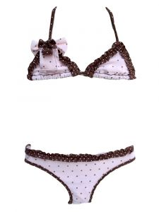 Azul Little Girls Light Pink Twinkle Twinkle Triangle Bikini 2 Pc Swimsuit 4-7