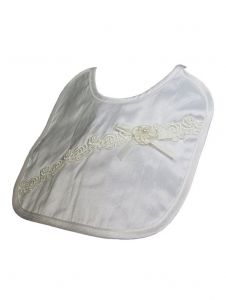 Little Things Mean A Lot Champagne Silk Dupioni Flower Bib