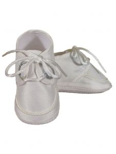 Baby Boys Champagne Silk Dupioni Braid Accent Christening Shoes 0-4 Baby