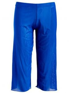 Deep Blue Swim Adult Royal Blue Mesh Capri Cover-up Pants Womens M