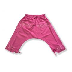 Azul Little Girls Hot Pink Drawstring Hand Embroidered Harem Pants 2T-7