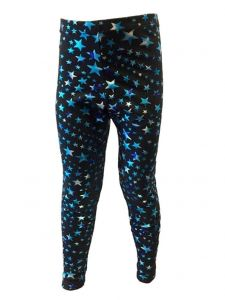 Pizzazz Girls Multi Color SuperStar Dance Cheer Sports Tights Youth 2-16