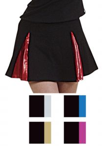Pizzazz Girls Multi Color A-Line Cover Stitch Skirt w/Boys Briefs Youth 2-16