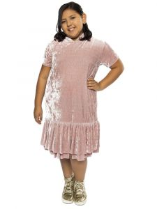 Kids Dream Big Girls Rose Velvet Back To School Plus Size Dress 14.5-18.5