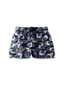 Azul Big Boys Navy Fish Print Drawstring Tie Shorts 10-14