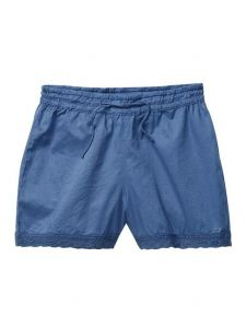 Azul Little Girls Blue Peasant Look Elastic Band Drawstring Shorts 2T-7